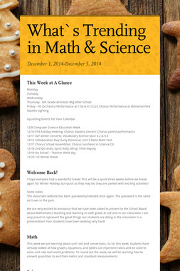 What`s Trending in Math & Science
