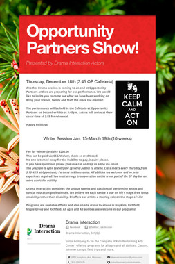 Opportunity Partners Show!