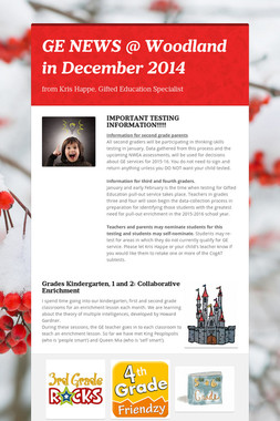 GE NEWS @ Woodland in December 2014