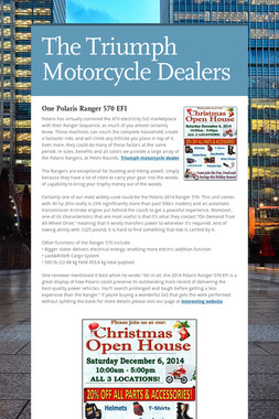 The Triumph Motorcycle Dealers