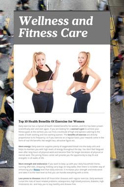 Wellness and Fitness Care