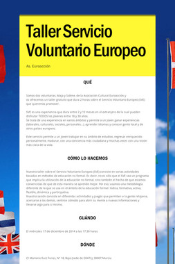 Taller Servicio Voluntario Europeo
