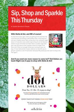 Sip, Shop and Sparkle This Thursday
