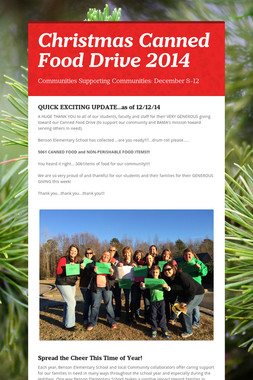 Christmas Canned Food Drive 2014