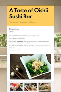 A Taste of Oishii Sushi Bar