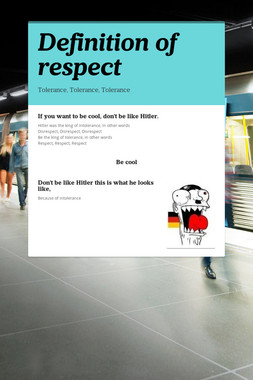 Definition of respect
