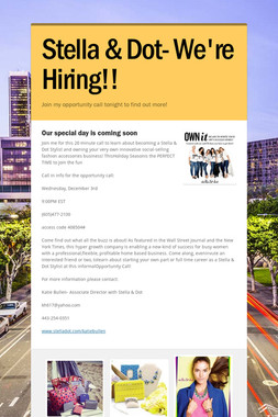 Stella & Dot- We're Hiring!!