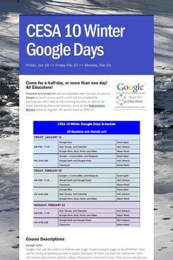 CESA 10 Winter Google Days