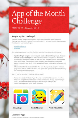 App of the Month Challenge