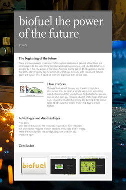 biofuel  the power of the future