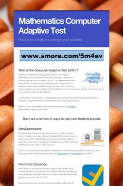 Mathematics Computer Adaptive Test