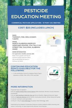 Pesticide Education Meeting