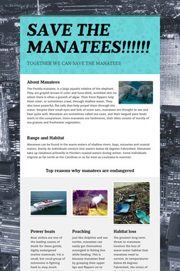 SAVE THE MANATEES!!!!!!