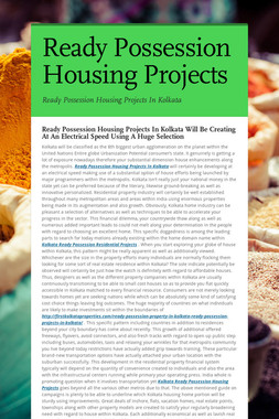 Ready Possession Housing Projects
