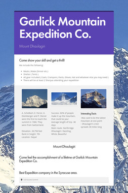 Garlick Mountain Expedition Co.