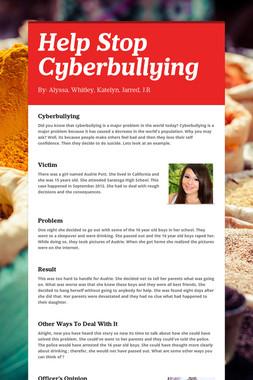 Help Stop Cyberbullying