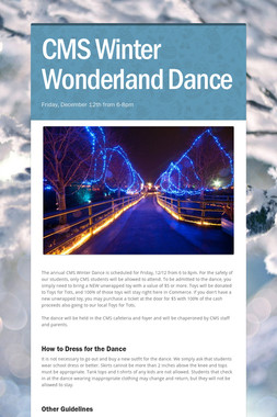 CMS Winter Wonderland Dance