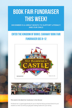 Book Fair FUNdraiser This Week!