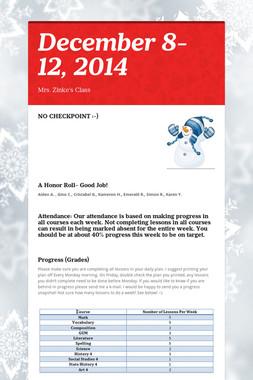 December 8-12, 2014