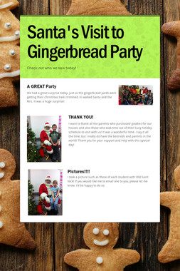 Santa's Visit to Gingerbread Party