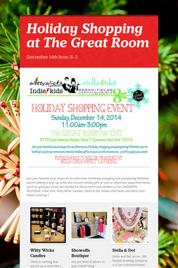 Holiday Shopping at The Great Room