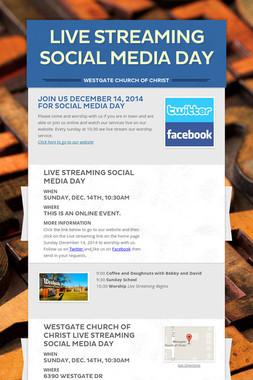 Live Streaming Social Media Day