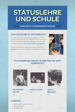 Statuslehre und Schule