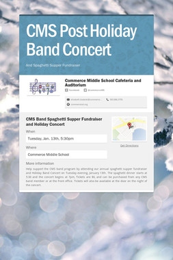CMS Post Holiday Band Concert