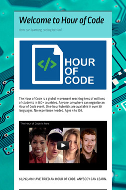 Welcome to Hour of Code