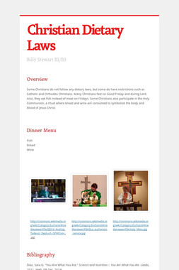 Christian Dietary Laws