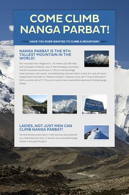 Come climb Nanga Parbat!