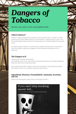 Dangers of Tobacco