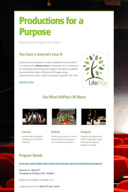 Productions for a Purpose