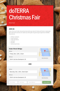 doTERRA Christmas Fair