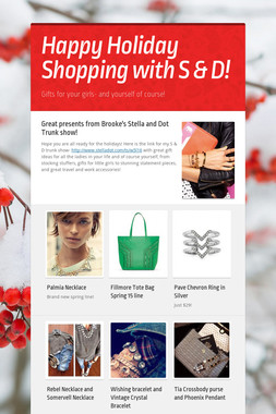 Happy Holiday Shopping with S & D!