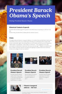 President Barack Obama's Speech