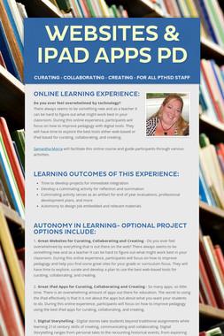 Websites & iPad Apps PD