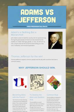 Adams Vs Jefferson
