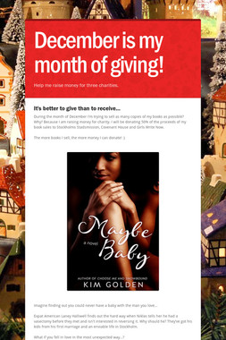 December is my month of giving!