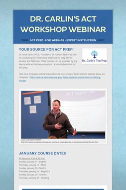 Dr. Carlin's ACT Workshop Webinar