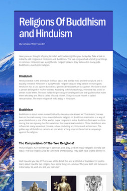 Religions Of Buddhism and Hinduism
