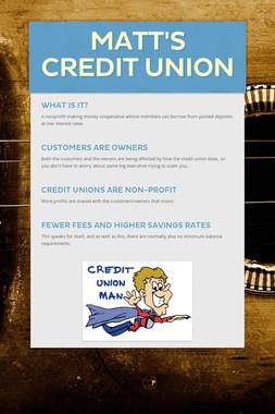 Matt's Credit Union