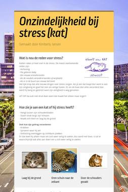 Onzindelijkheid bij stress (kat)