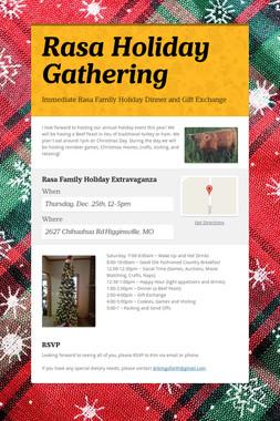 Rasa Holiday Gathering