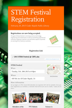 STEM Festival Registration