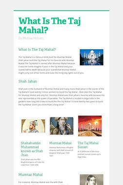 What Is The Taj Mahal?