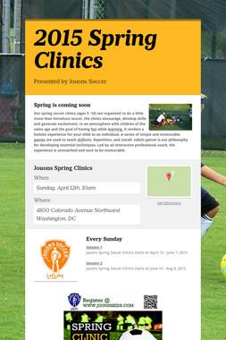 2015 Spring Clinics