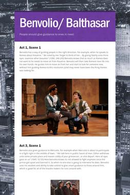 Benvolio/ Balthasar