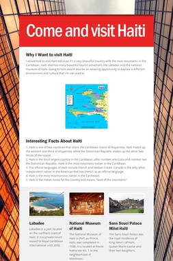 Come and visit Haiti