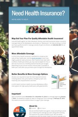 Need Health Insurance?